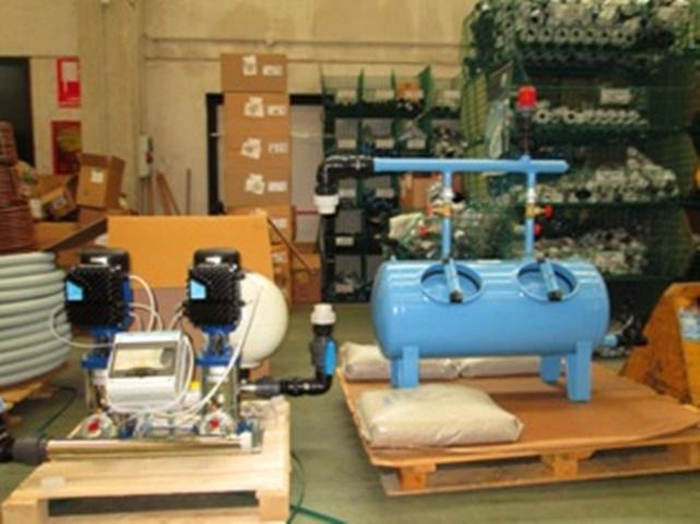 1 Preassemblaggio sistema irriguo irrigazione giardini Grua